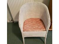 lloyd loom style chair and storage box