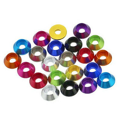M3 M4 11 Color Aluminum Cup Head Screw Bolt Cone Washers Gaskets