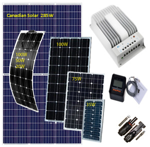 MPPT Charge Controller, Solar Panel 100W, 35W-285W