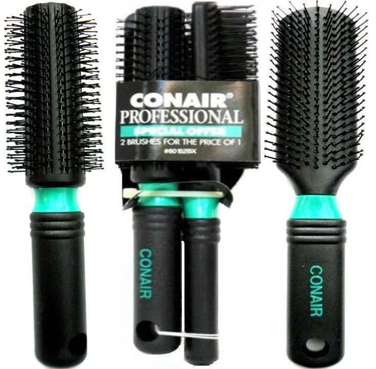 Conair Professional Hair Brush Nylon Bristle 2 PIECES Brush