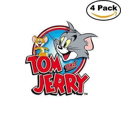 Tom And Jerry 4 Stickers Cartoon Window Sticker Decal 4X4_10