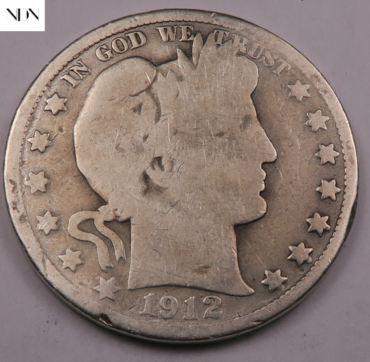 1912 Barber Half Dollar Good complete Series Listed 90 Silver 927 - $0.99
