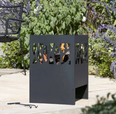 La Hacienda Fora Steel Fire basket Outdoor Patio Heater Fire Bowl Pit Chim !