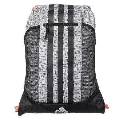 Adidas Alliance Fat Stripes II Sackpack Gym Travel School Sport Backpack (Fat Stripes)