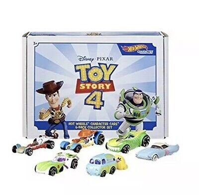 DISNEY PIXAR TOY STORY 4 Hot Wheels Character 6 PACK COLLECTOR SET Sealed RARE
