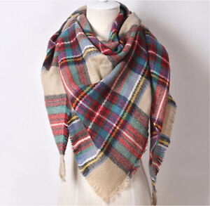 PLAID BLANKET SCARF-EXCELLENT CONDITION