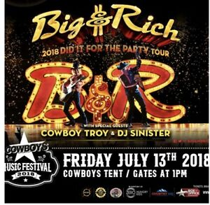 Cowboys Bootstompin' Big & Rich Tickets