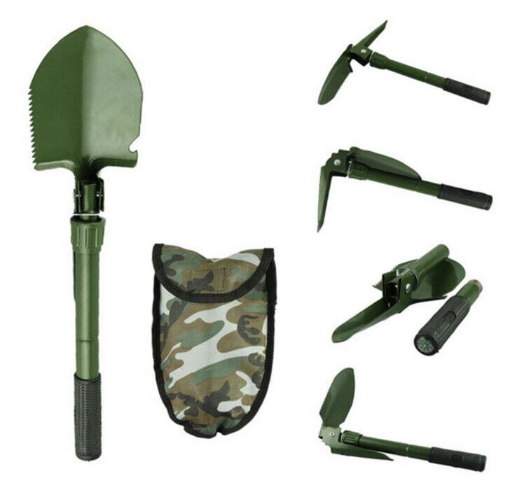 Heavy-Duty Carbon Steel Folding Camping Survival Shovel Garden Military Style
