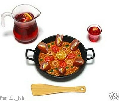 Rare 2004 RARE Miniature Re-ment European Gourmet Tour #4 Spain Paella