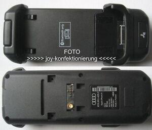 Audi Handy Adapter Set für iPhone 4 / 4s Handyschale Ladeschale Handyhalterung F