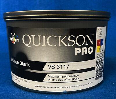 Intense Black Offset Ink Quickson Pro - Best Selling Van Son Black Ink 2.2 Lb.