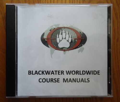 Blackwater BW USA Worldwide International Training COURSE Manuals OEF OIF SEAL