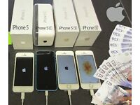 WANTED: Apple Iphone 5, 5C, 5S, SE, Any Condition. Any Network OK