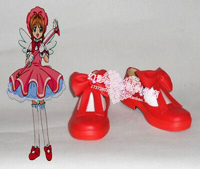Cardcaptor Sakura Sakura Kinomoto Red Halloween Cosplay Shoes H016