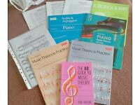 Selection of piano books and music theory.