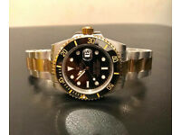 Rolex submariner bi metal watch