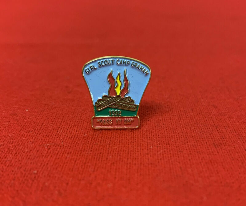 Girl Scouts Camp Graham Lapel Pin (1992)