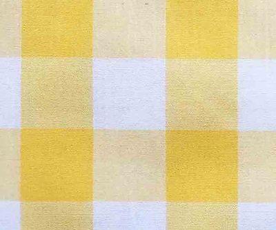 Cotton Blend Fabric Bright Yellow & White Gingham Check Plaid (Yellow Check Fabric)