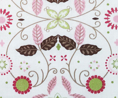 Contemporary Floral Fabric - Cotton Quilting Fabric Contemporary Symmetrical Floral Bright Colors JoAnn BTY