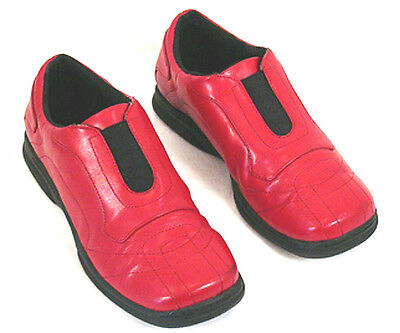 WOMENS,SHOES,PIERRE DUMAS,6 1/2 M,LOAFERS,RED,CLOTHING,DRESS,CASUAL,FLATS,GIFT