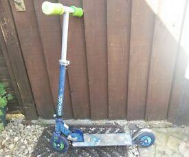 Kids Ben 10 Metal Folding Scooter, Adjustable Height