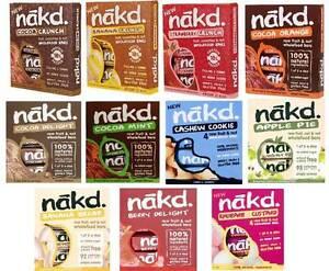 Nakd Fruit & Nut Bars Mixed Case Selection 44 Bars *Vegan, Raw, Wheat Free*