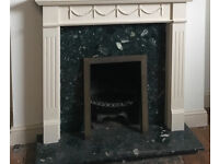 Marble fire surround and hearth