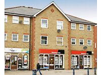 SHOP TO LET (double fronted). Central Cheshunt. Retail shop & A2 office usage.