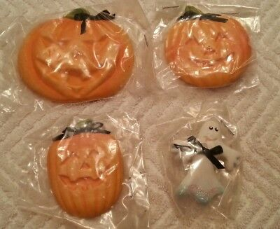 Pin PUMPKIN Ghost Halloween Refrigerator MAGNETS Office Cubicle Miniatures