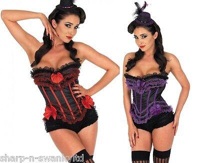 Damen Sexy Burlesk Showgirl Pariser Korsett Kostüm Kleid Outfit