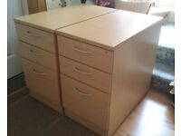 Pair office drawers