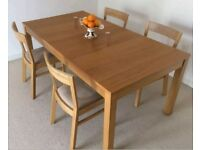 Ikea Extending Bjursta Oak Table & 6 Roger Chairs FREE DELIVERY 361
