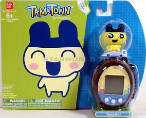 TAMAGOTCHI TAMATOWN TAMA-GO ELEC PET MAMETCHI  BLACK with Mametchi Figure NEW!