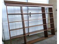 Beautiful solid mahogany hand made bookcase / display unit