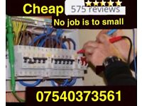 Electrician-Fully Qualified,FREE Quote, CHEAP Prices, work Guaranteed 07540373561 call 24hrs a day