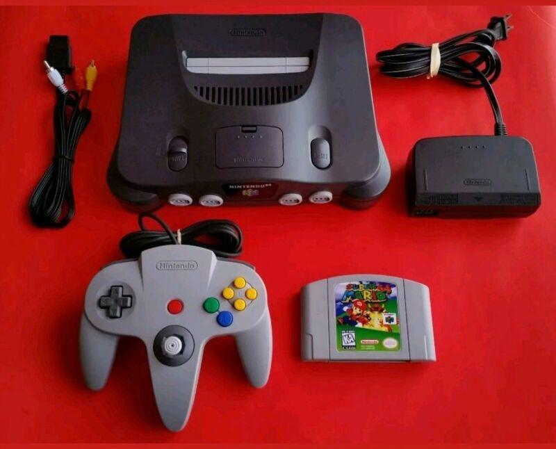 Complete Nintendo 64 Console + Super Mario 64 + Official Controller N64