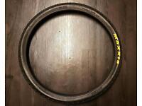 "MAXXIS ASPEN 26"" mountain bike tyres near new hardly used"