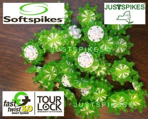 18 New GREEN PULSAR Fast Twist 3.0 TOUR LOCK Golf Spikes Softspikes Justspikes