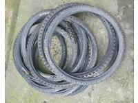Mountain bike tyres, hardly used lots of sizes and brands