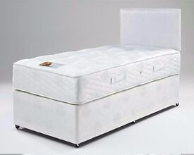 "* FAST & FREE DELIVERY ** Single Bed With 10"" White Orthopedic Mattress"