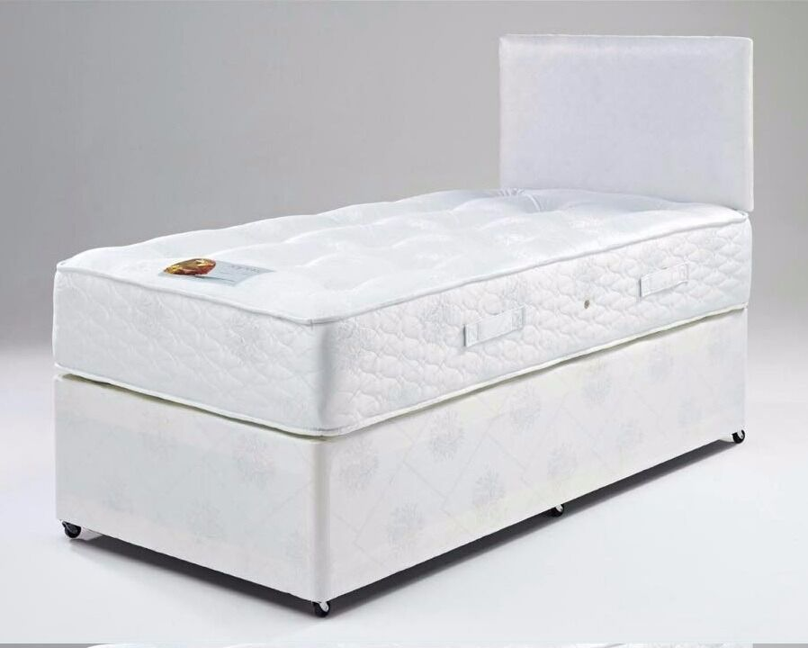 FAST AND FREE- BRAND NEW SINGLE DIVAN BED WITH SEMI ORTHOPEDIC MATTRESS