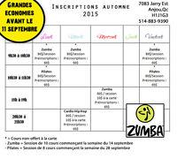 Cours de Zumba - Grandes Économies en Pré-inscriptions !!!