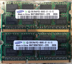 4 Modules - 2 GB PC3-8500S 1066MHz SO-DIMM DDR3