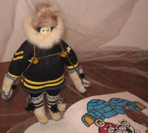Rare Inuit Heritage Royal Canadian Mounted Police R.C.M.P. Doll