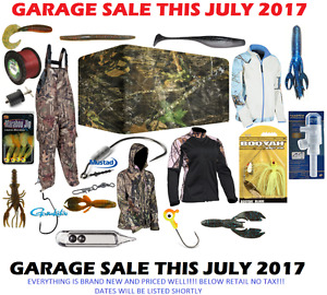 Garage Sale BRAND NEW FISHING & HUNTING products