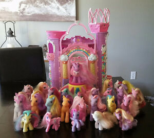 Large lot of My Little Ponies & castle