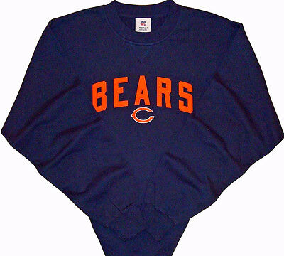 Chicago Bears NFL End Zone Game Day Sweatshirt Dark Blue Size Medium NWT Chicago Bears Nfl End