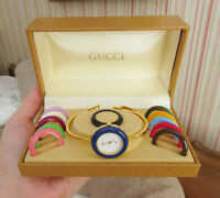 Vintage GUCCI Bangle Bracelet Quartz Watch - 12 Bezels