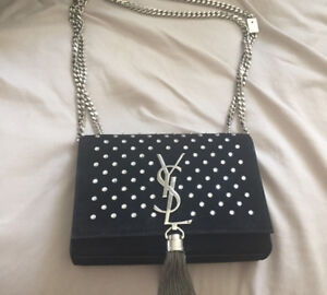 Authentic crystal YSL bag