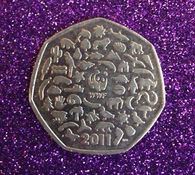 2011 WWF 50P COIN